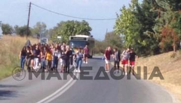 Υπό κατάληψη το 1ο ΓΕΛ Μίκρας για την ασφαλή μετακίνηση 95 μαθητών