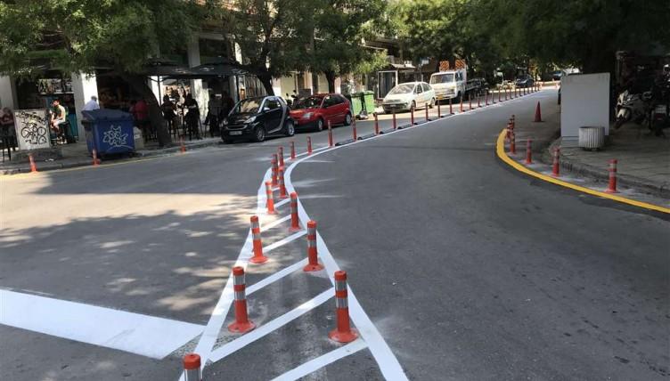 Θεσσαλονίκη: Κυκλοφοριακές παρεμβάσεις του δήμου σε κεντρικούς δρόμους (φωτ.)