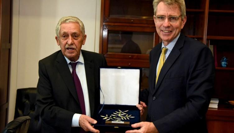 Κουβέλης σε Πάιατ: Στρατηγικής σημασίας η συνεργασία με ΗΠΑ