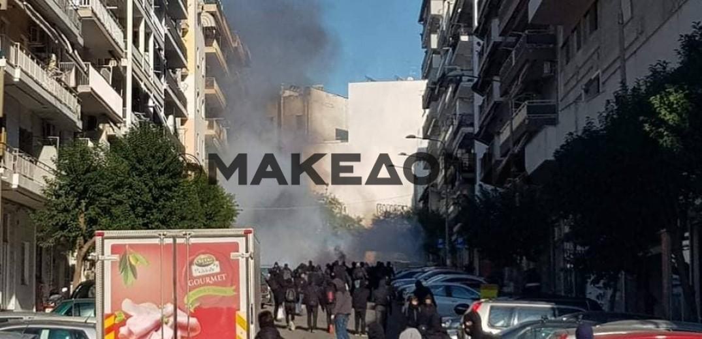 Επτά προσαγωγές και μια σύλληψη για τα επεισόδια στη Θεσσαλονίκη