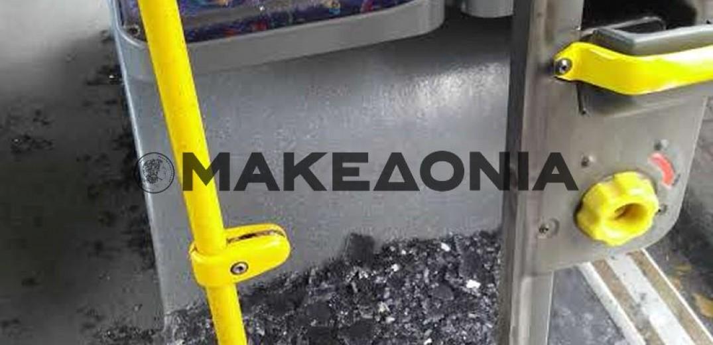 Τραυματίστηκαν δύο επιβάτες λεωφορείου του ΟΑΣΘ (Φωτ.)