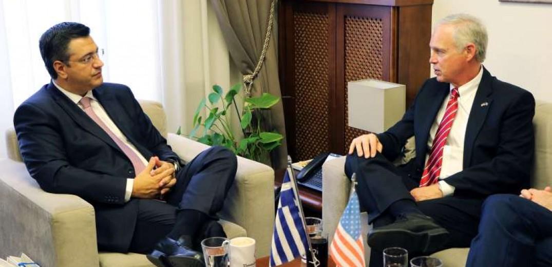 Θεσσαλονίκη: Με τον γερουσιαστή των ΗΠΑ Ron Johnson συναντήθηκε ο Απόστολος Τζιτζικώστας