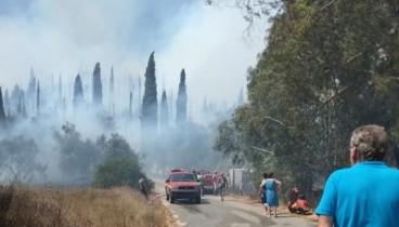 Εκκενώθηκε το χωριό Ραχτάδες στην Κέρκυρα