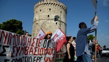 Κυκλοφοριακό κομφούζιο στο κέντρο της Θεσσαλονίκης