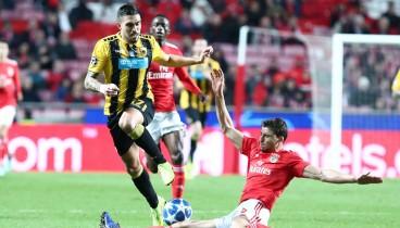 Τσάμπιονς Λιγκ: Ούτε τώρα η ΑΕΚ, ήττα με 1-0 από τη Μπενφίκα