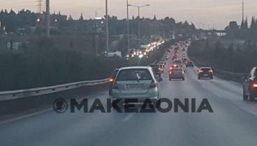 Αποκαταστάθηκε η κυκλοφορία στην περιφερειακή της Θεσσαλονίκης