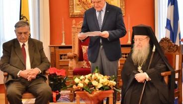 Η Μητρόπολη Θεσσαλονίκης τίμησε τον πρόεδρο της Ακαδημίας Αθηνών Αντώνη Κουνάδη