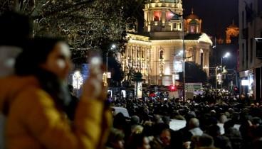 Διαδηλώσεις κατά του Σέρβου προέδρου στο Βελιγράδι