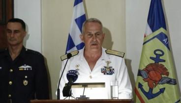 Απόψε στις 7.30 η ορκωμοσία του ναυάρχου Αποστολάκη