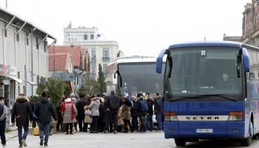Τουλάχιστον 40 λεωφορεία θα ξεκινήσουν από τη Θεσσαλονίκη για το συλλαλητήριο στο Σύνταγμα
