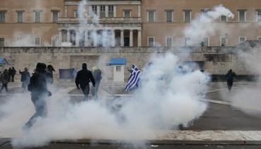 """Ήταν μια """"πρωτοφανής προσπάθεια εισβολής στη Βουλή με χρήση βίαιων μέσων"""" δήλωσε ο πρόεδρος του ελληνικού Κοινοβουλίου"""