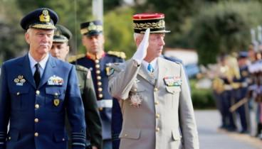 Στρατιωτική συνεργασία συζητούν οι αρχηγοί ΓΕΕΘΑ Ελλάδας και Γαλλίας