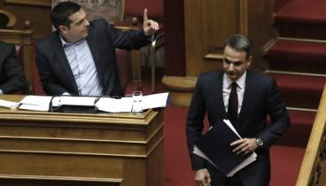 Βουλή: Μονομαχία Τσίπρα-Μητσοτάκη για ΠτΔ και Παυλόπουλο