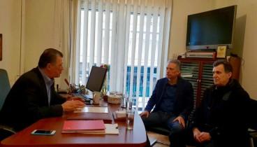 Συνάντηση Ορφανού - Χρυσόγονου για τις θέσεις στάθμευσης γύρω από το Κλ. Βικελίδης
