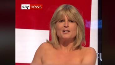 Η αδερφή του Μπόρις Τζόνσον αποκάλυψε το στήθος της για να μιλήσει υπέρ του Brexit...