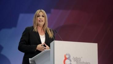 Επίθεση σε ΣΥΡΙΖΑ και ΝΔ εξαπέλυσε από τη ΔΕΘ η Φ. Γεννηματά
