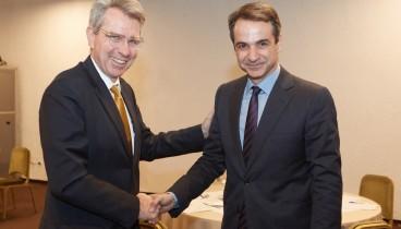 Με τον αμερικανό πρεσβευτή  Τζέφρυ Πάιατ συναντήθηκε ο Κ. Μητσοτάκης