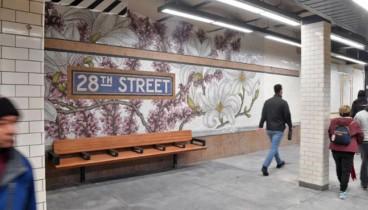 Στολίζοντας το Μετρό της Νέας Υόρκης με λουλούδια!
