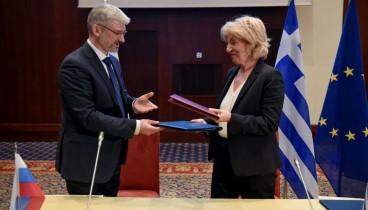 Θεσσαλονίκη: Υπογράφηκε το πρωτόκολλο της 12ης ΜΔΕ Ελλάδας - Ρωσίας