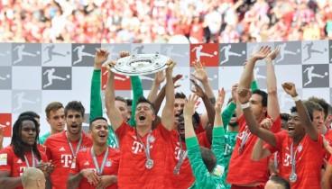"""Γερμανία: Πρωταθλήτρια με """"πεντάρα"""" η Μπάγερν Μονάχου (videos)"""