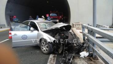 Βέροια: Ένας νεκρός σε τροχαίο μέσα σε σήραγγα στην Εγνατία Οδό