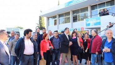 Στο εργοτάξιο τεχνικών υπηρεσιών του Δήμου Θεσσαλονίκης ο Γιώργος Ορφανός