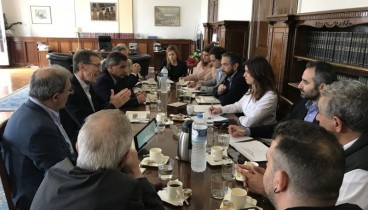 Συνάντηση Νοτοπούλου με τη διοίκηση της ΔΕΘ Helexpo για την ανάπλαση του εκθεσιακού χώρου