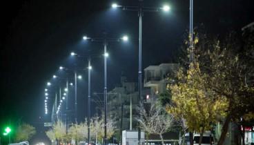 Οι δρόμοι στο δήμο Θερμαϊκού φωτίζονται με λαμπτήρες led