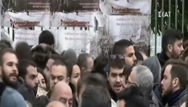 Δεν άφησαν στελέχη του ΣΥΡΙΖΑ να μπουν στο Πολυτεχνείο (video)