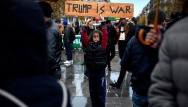 Διαδήλωση κατά του Ντόναλντ Τραμπ στο Παρίσι
